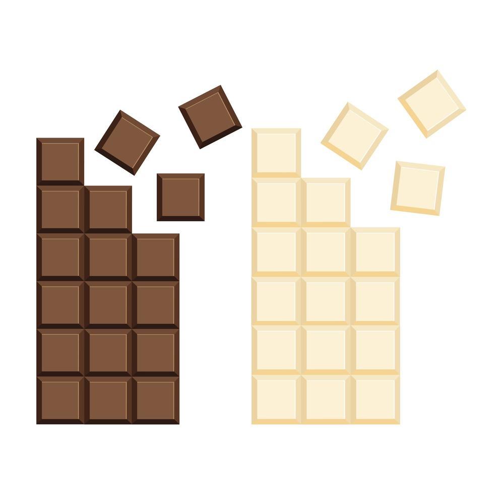 Milk chocolate bar clipart set vector