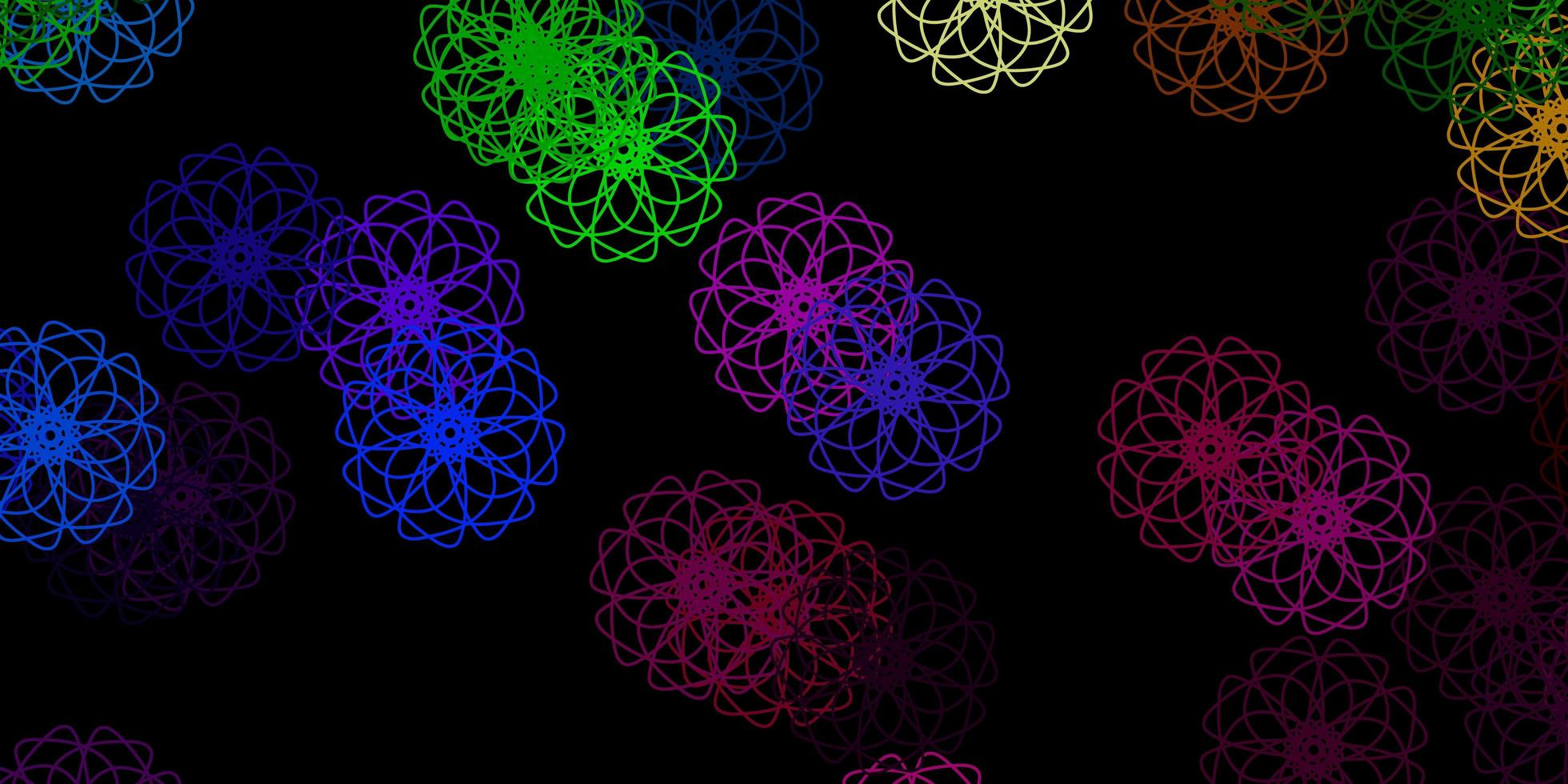 textura de vector multicolor oscuro con formas de memphis.