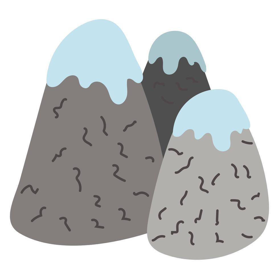 snow mountains with snow icon vector