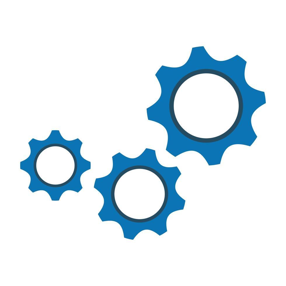 diseño de pieza de engranaje aislado vector
