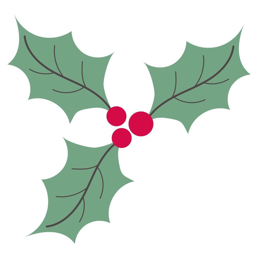 Merry Christmas holly vector