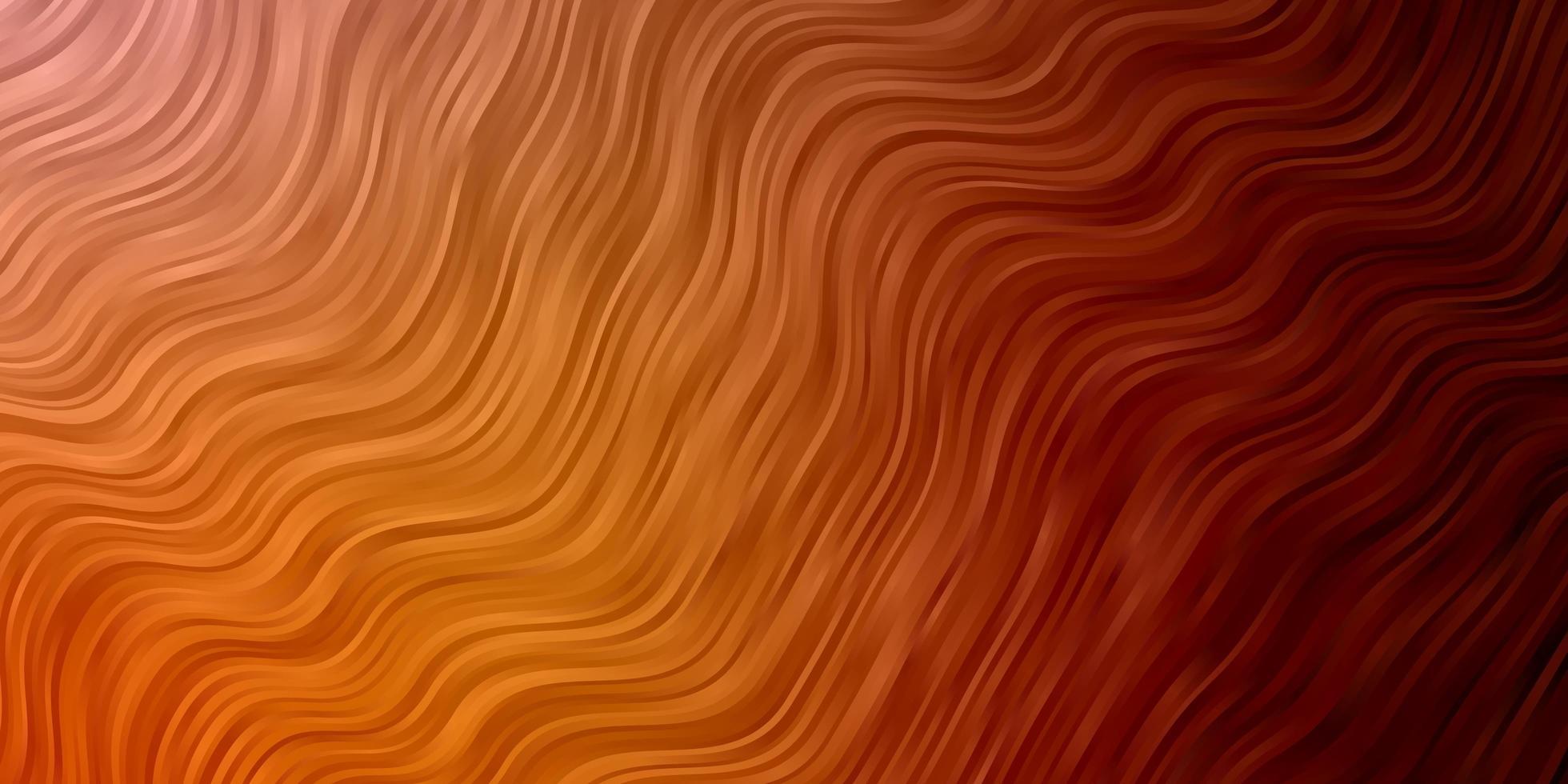 textura de vector naranja claro con arco circular.