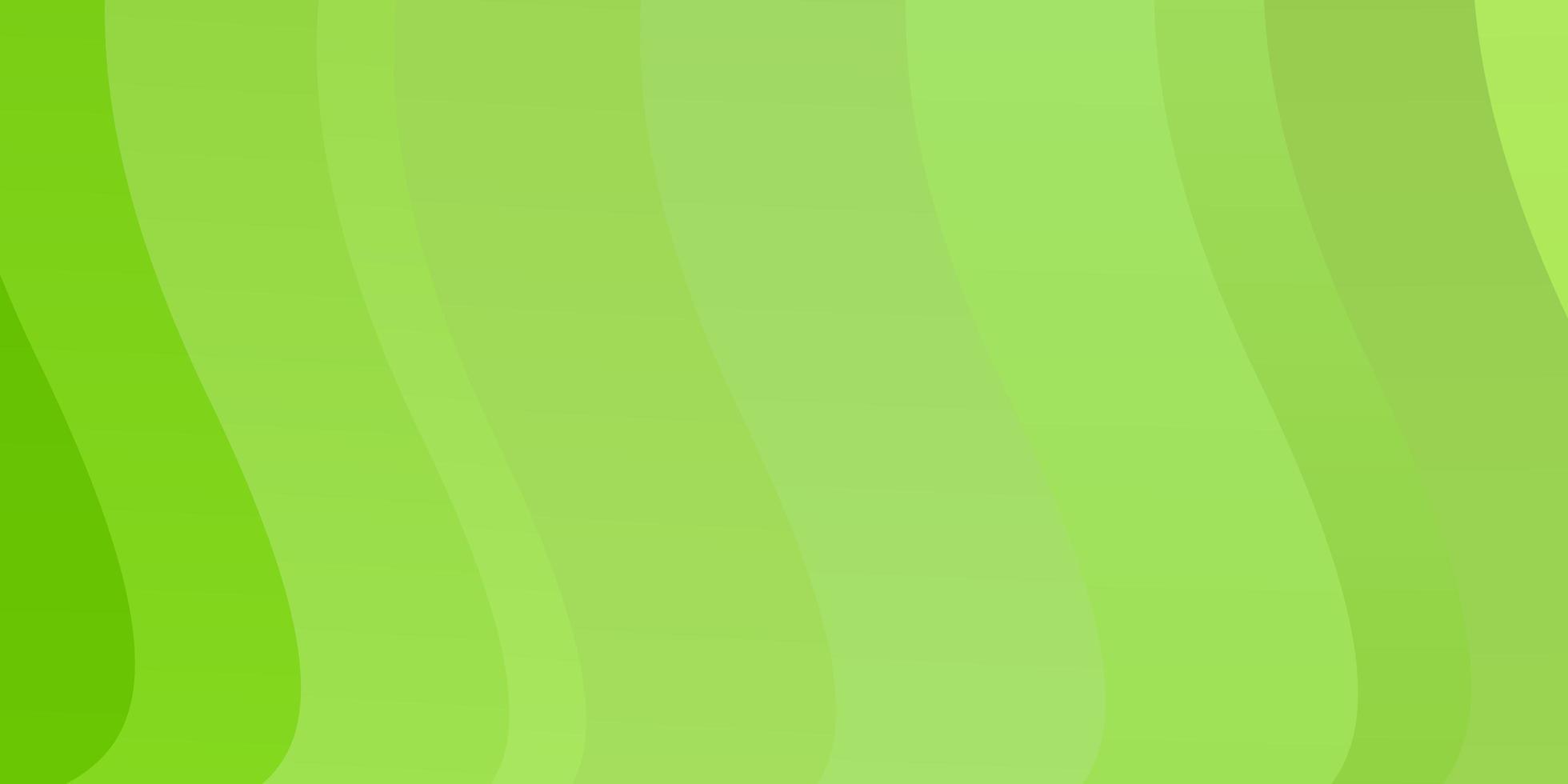 diseño de vector verde claro con líneas torcidas.