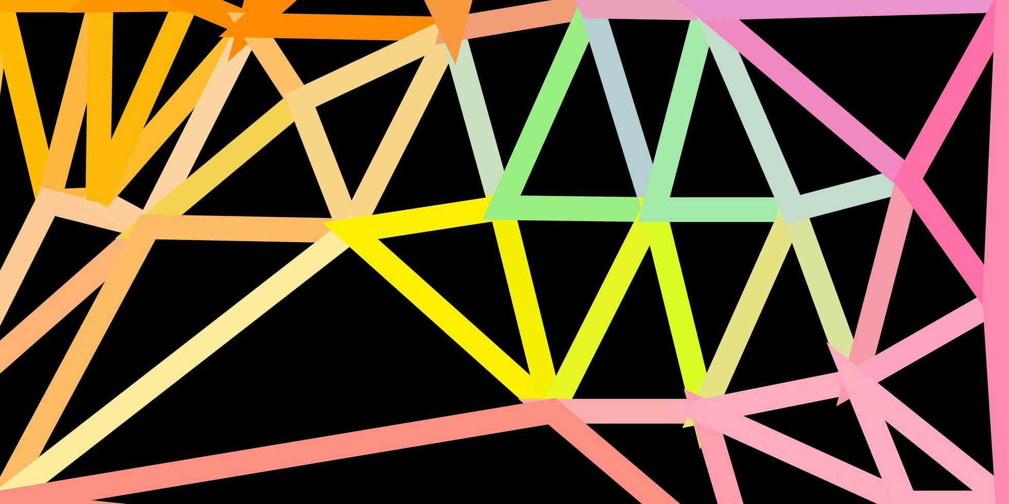 plantilla de triángulo de poli vector verde claro, rojo.