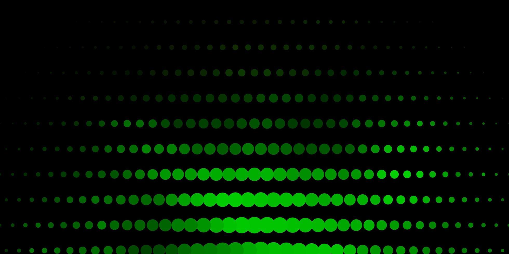 textura de vector verde oscuro con discos.