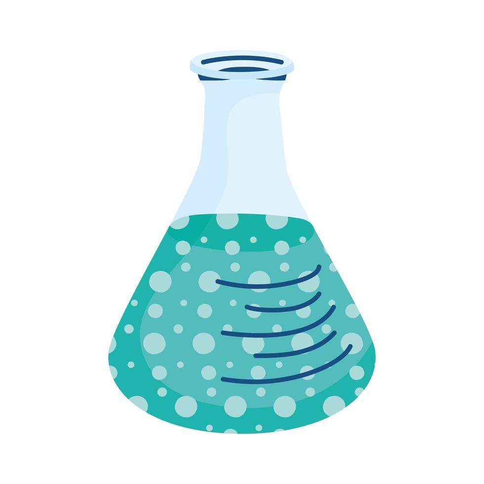 test flask hand draw style vector