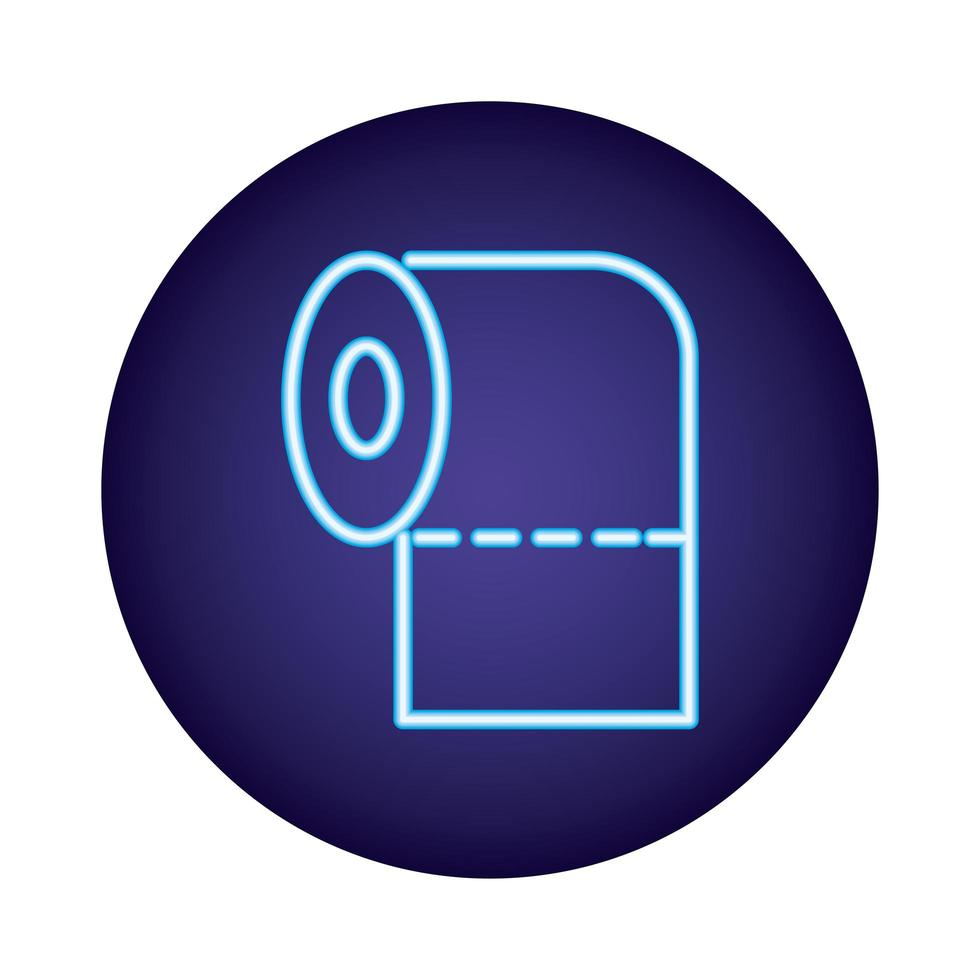 rollo de vendaje icono de estilo neón vector