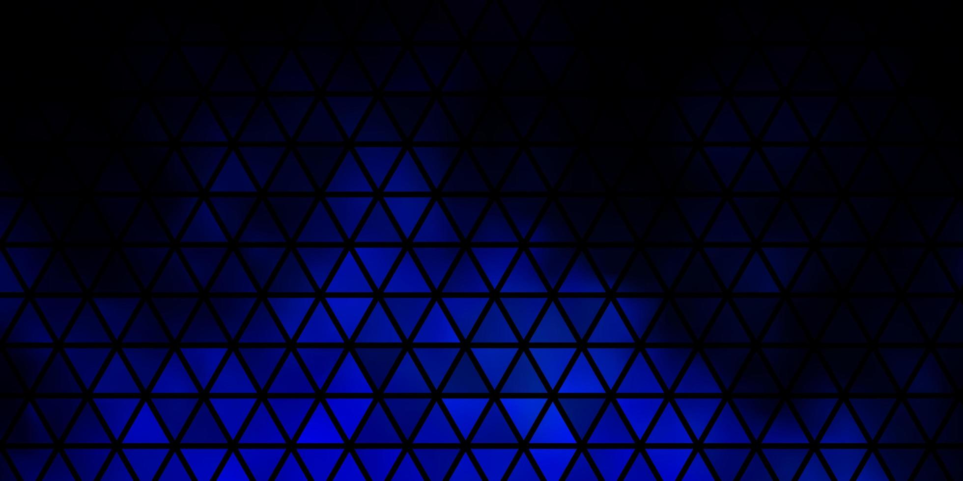 Dark BLUE vector texture with triangular style.