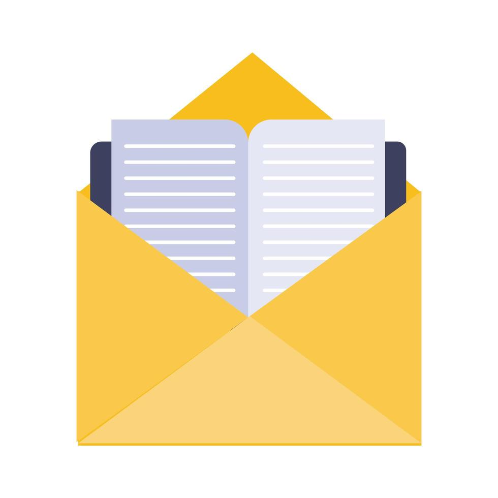 envelope mail flat style icon vector