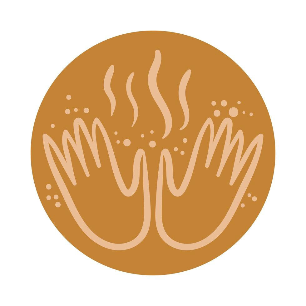 hands boho hand draw style vector
