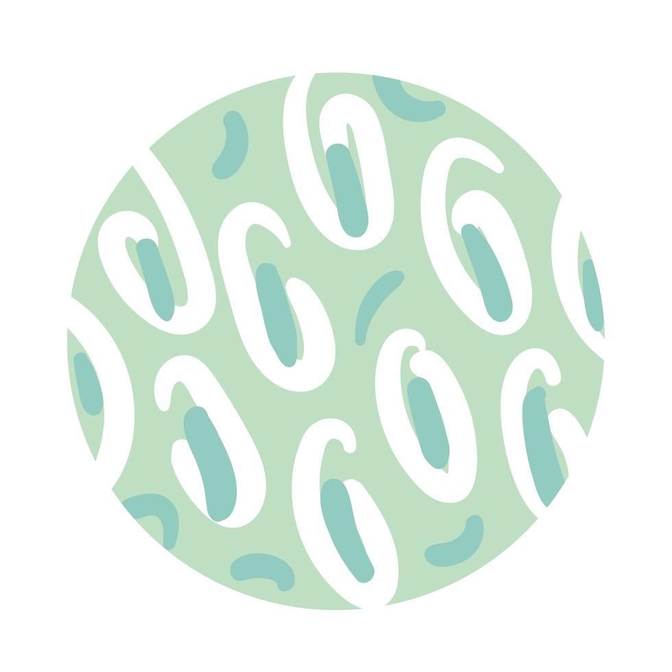 estilo de bloque de patrón orgánico espiral vector