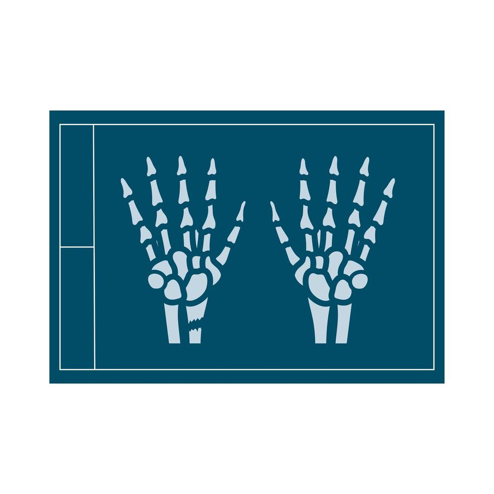 x-ray medical flat style icon vector