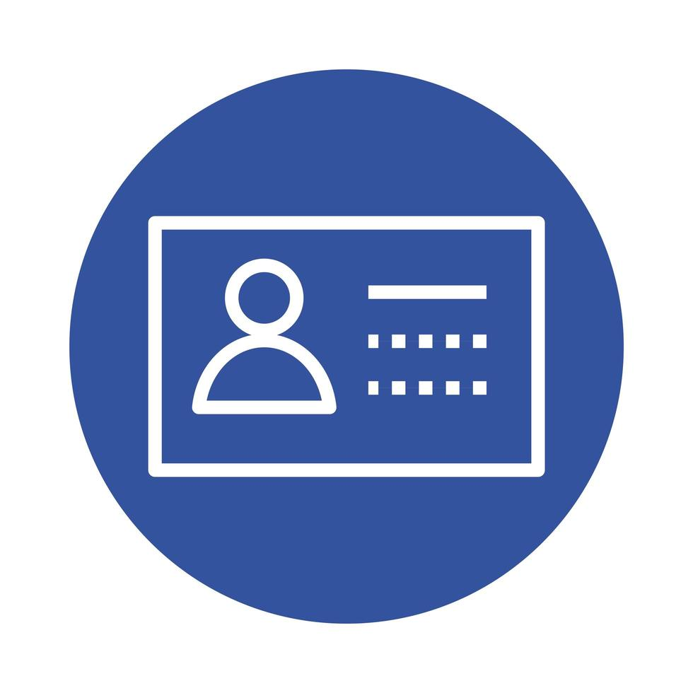 id document block style icon vector