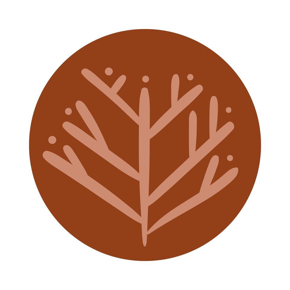 árbol de otoño boho estilo de dibujo a mano vector