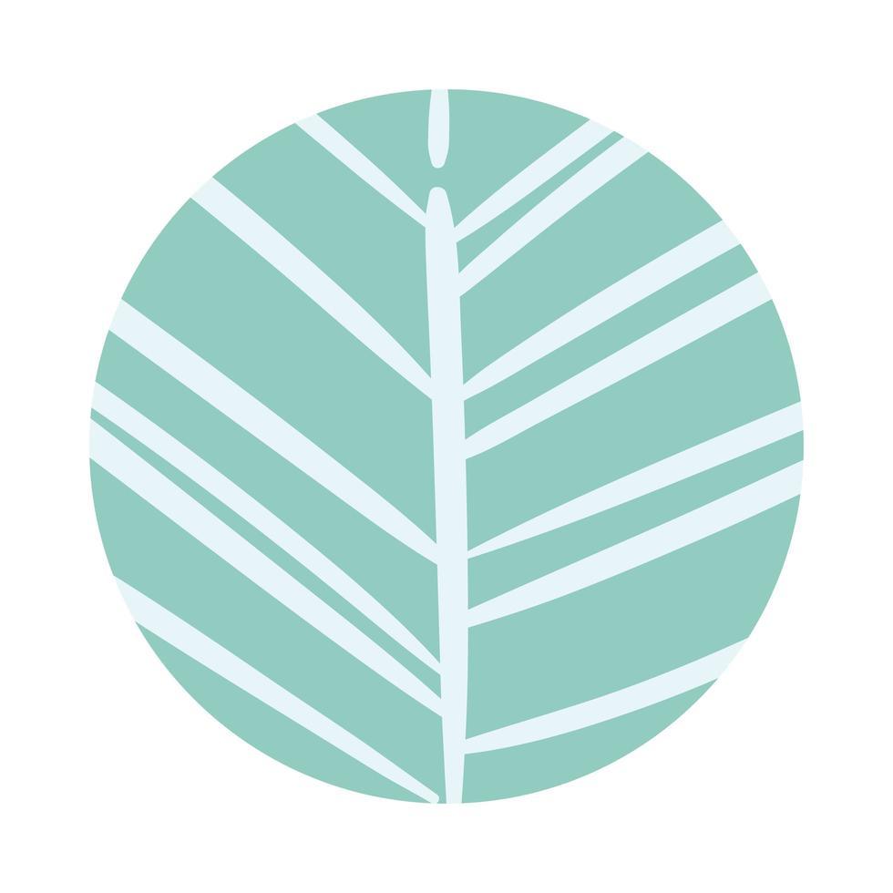 autumn tree organic pattern block style vector