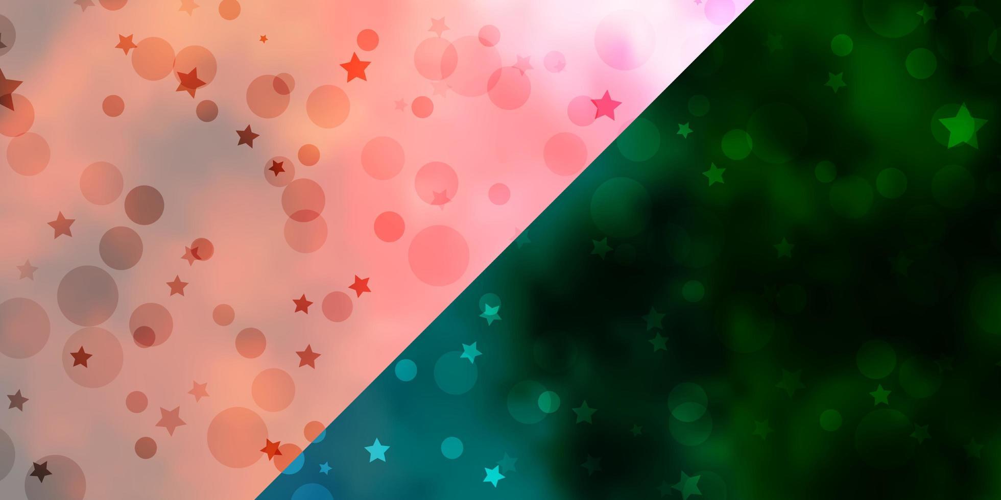 vector de fondo con círculos, estrellas.