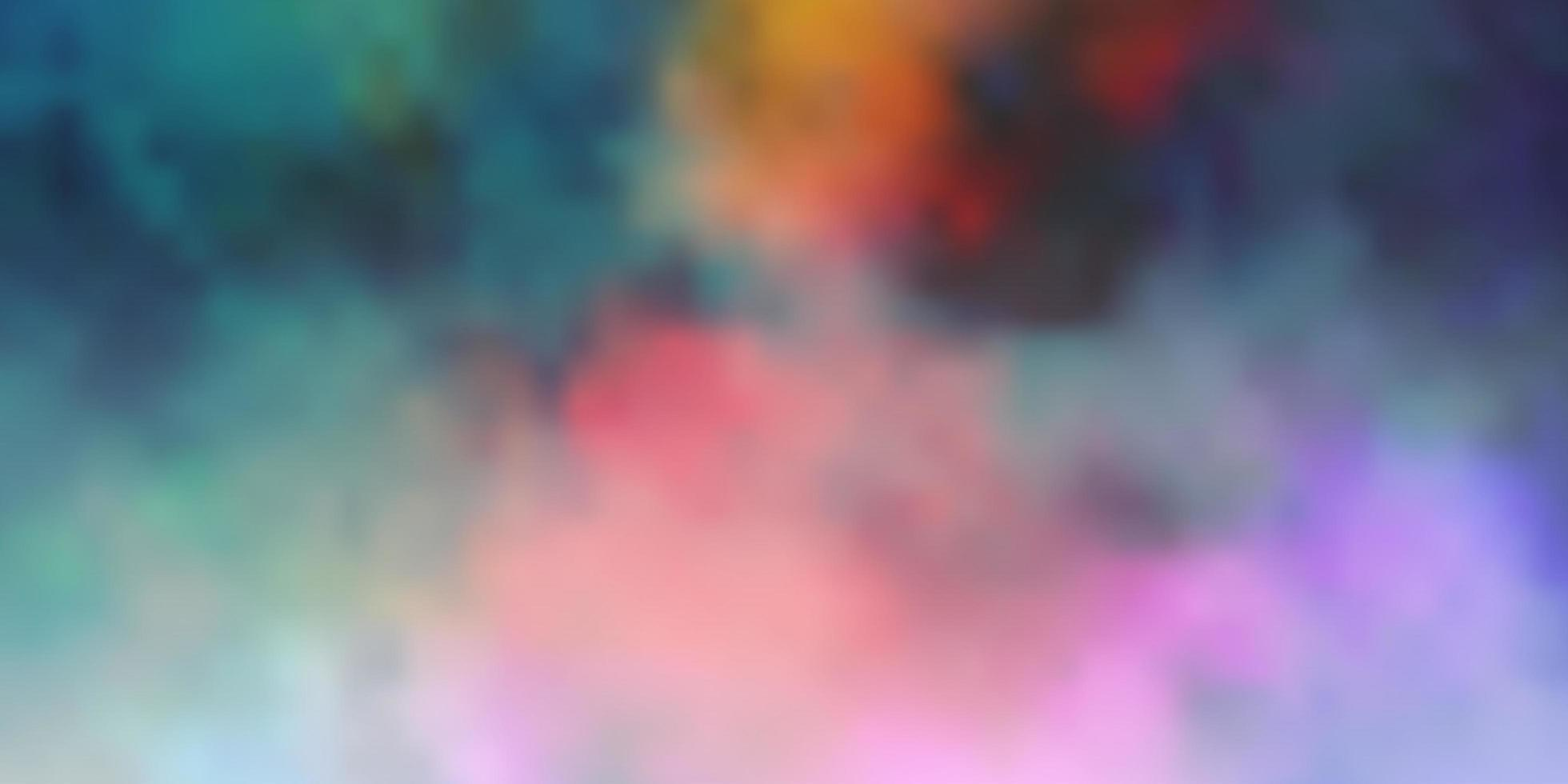 Dark Multicolor vector pattern with clouds.