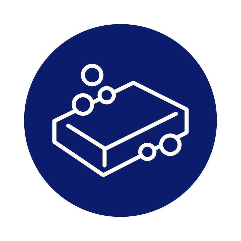 soap bar block style icon vector