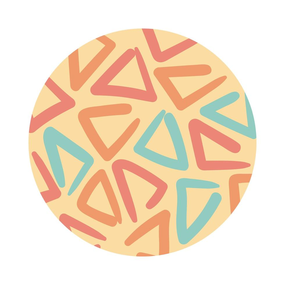 triangles organic pattern block style vector