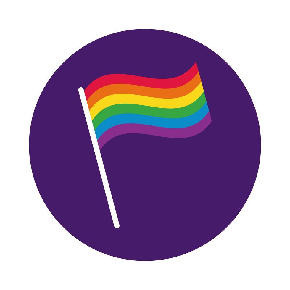 colores de la bandera estilo de bloque de orgullo gay vector