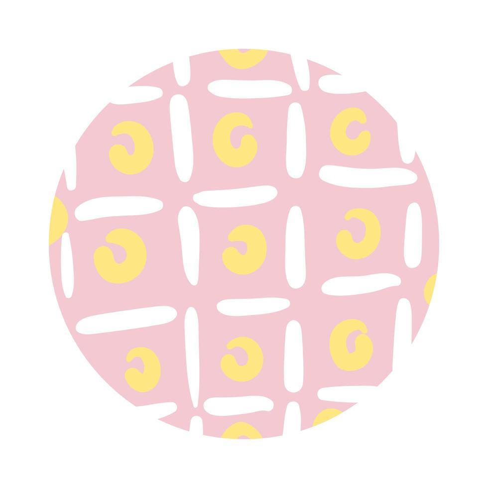 circles organic pattern block style vector