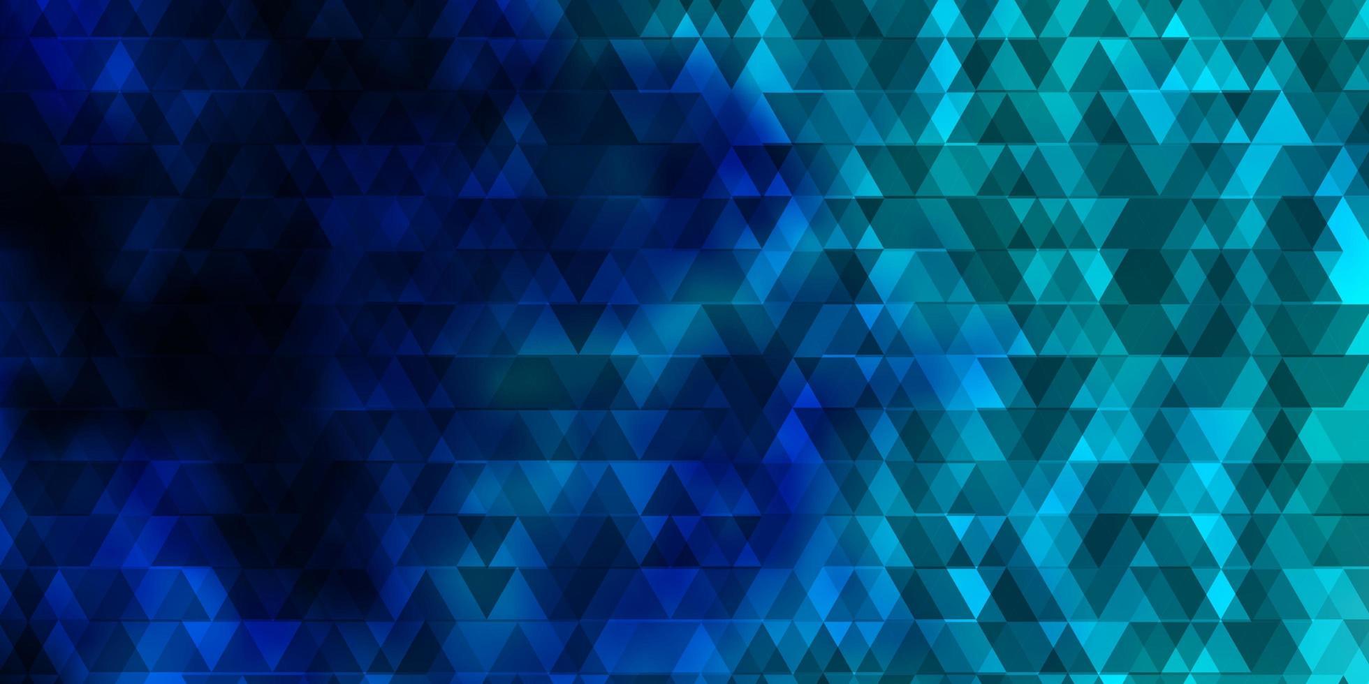 Fondo de vector azul claro con líneas, triángulos.