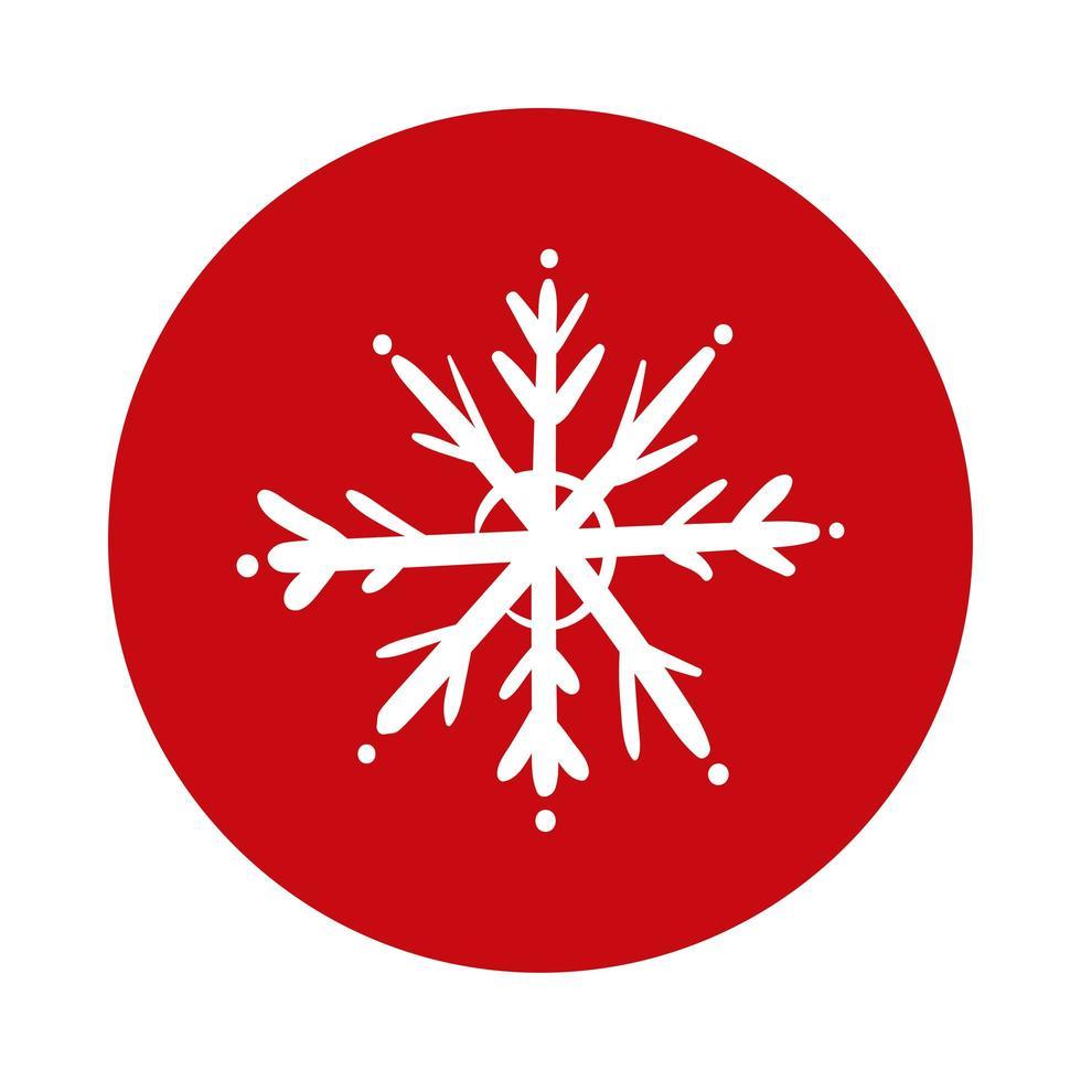 icono de estilo de bloque de hielo de copo de nieve vector