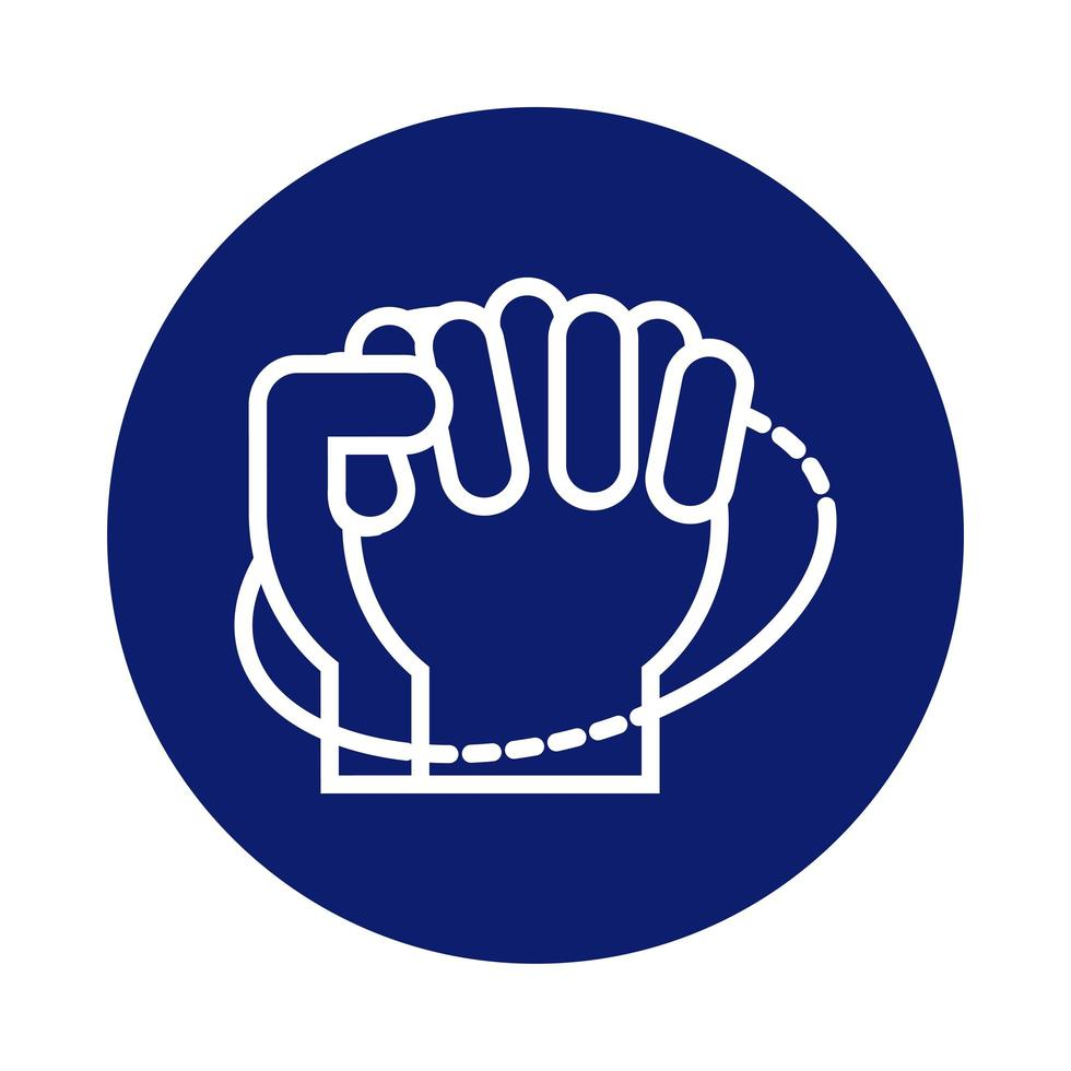 lavado de manos icono de estilo de bloque circular vector