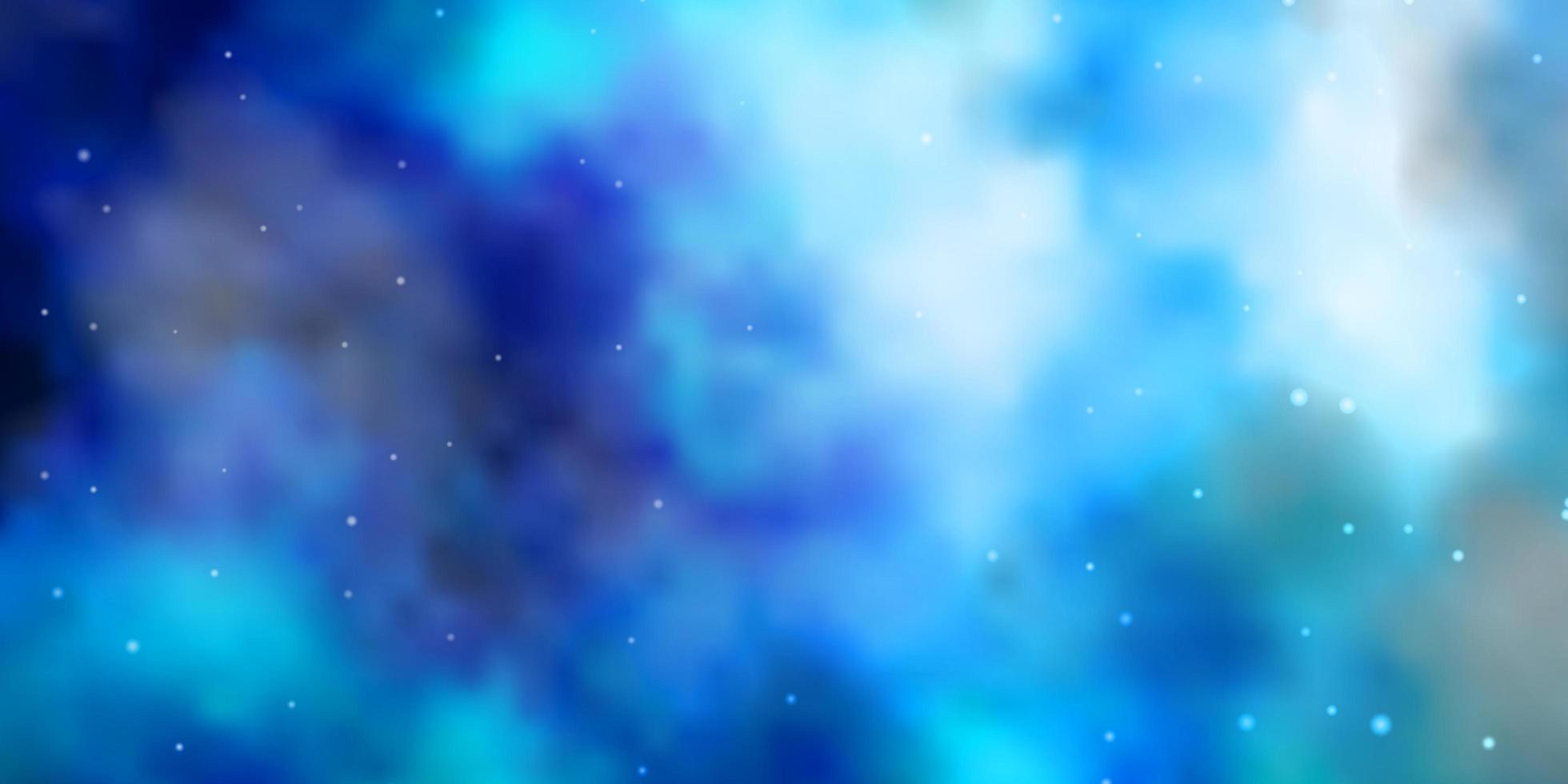 Light BLUE vector pattern with abstract stars.