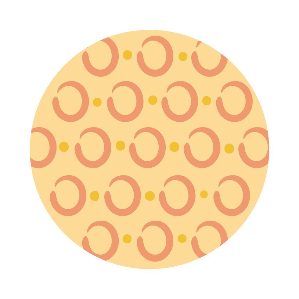círculos patrón orgánico estilo bloque vector