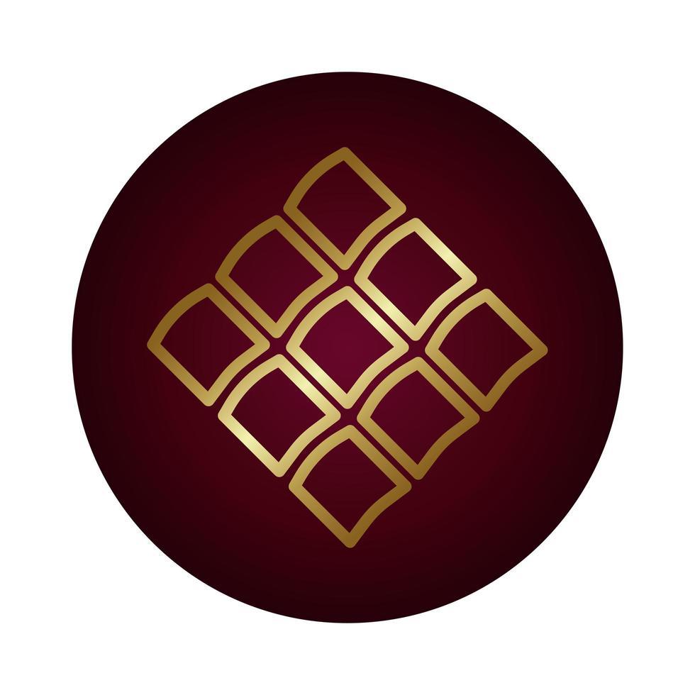 icono de estilo degradado de bloque de figura cuadrada vector