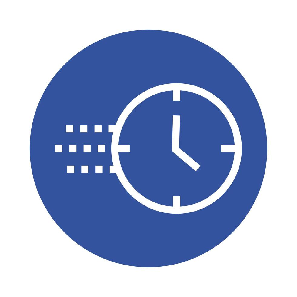time clock block style icon vector