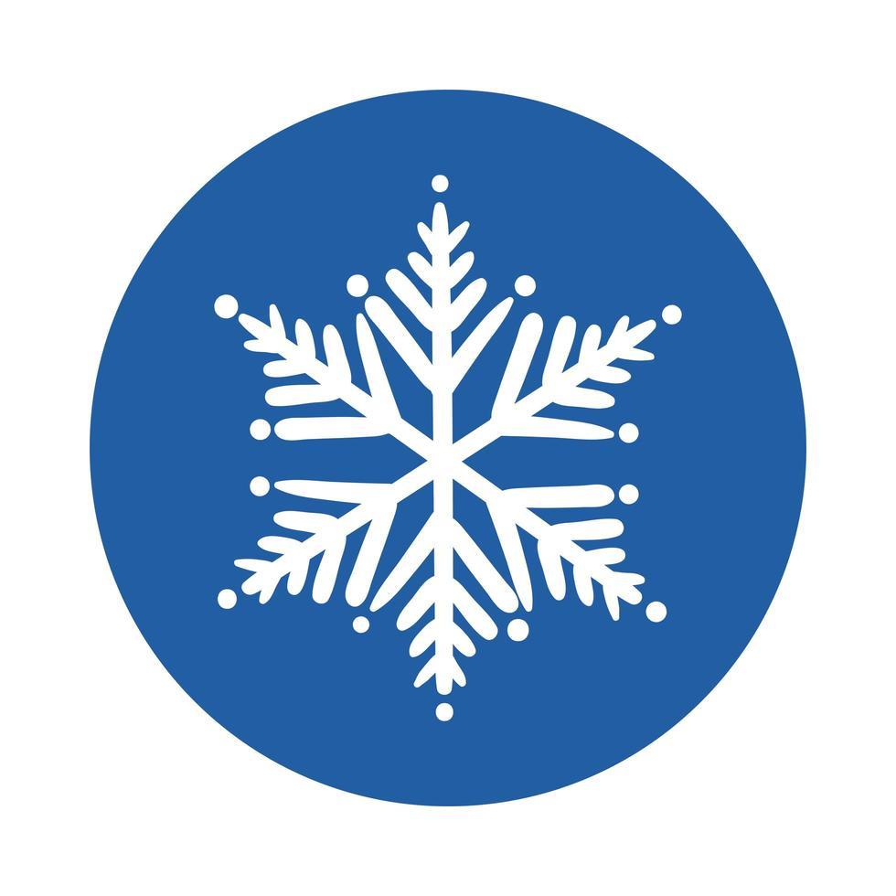 snowflake ice block style icon vector