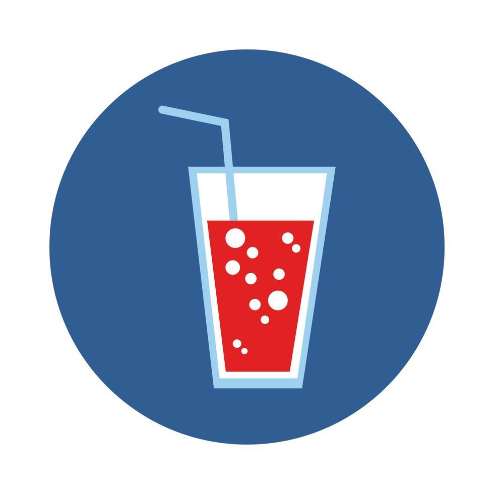 soda drink block style icon vector