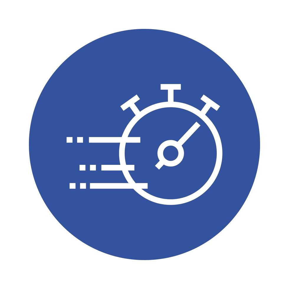icono de estilo de bloque de temporizador de cronómetro vector