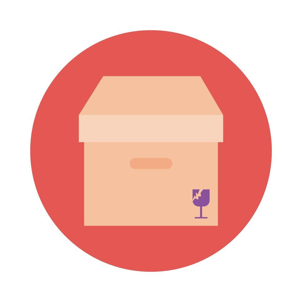 servicio de entrega de caja estilo bloque vector