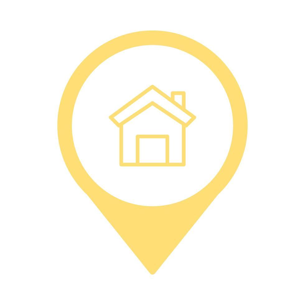 Icono aislado pictograma frontal de la casa vector