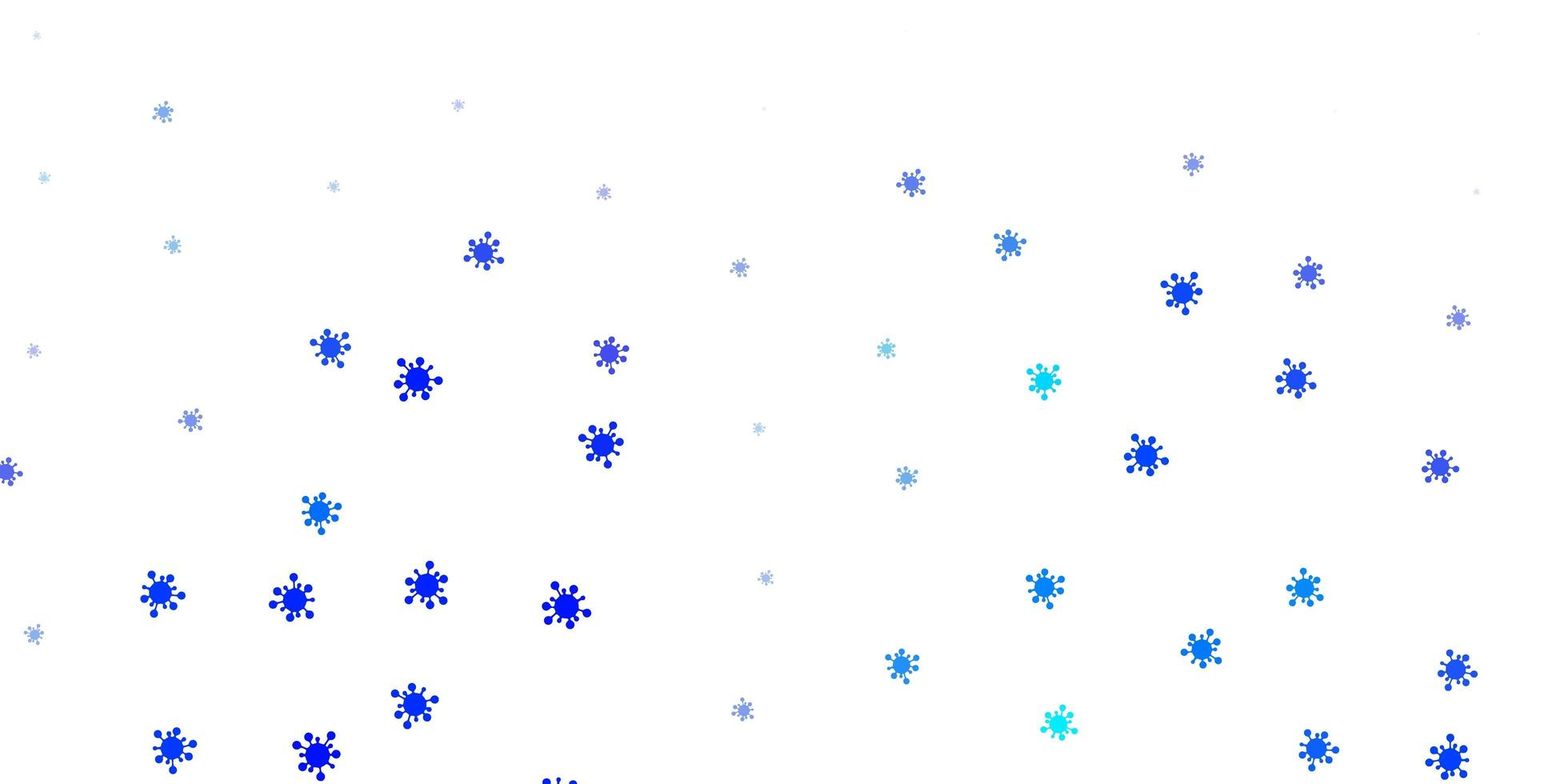 Light blue vector background with covid-19 symbols