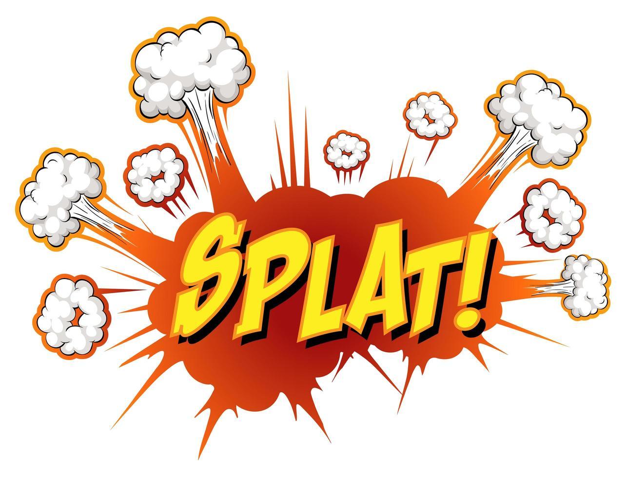 bocadillo de diálogo cómico con texto splat vector