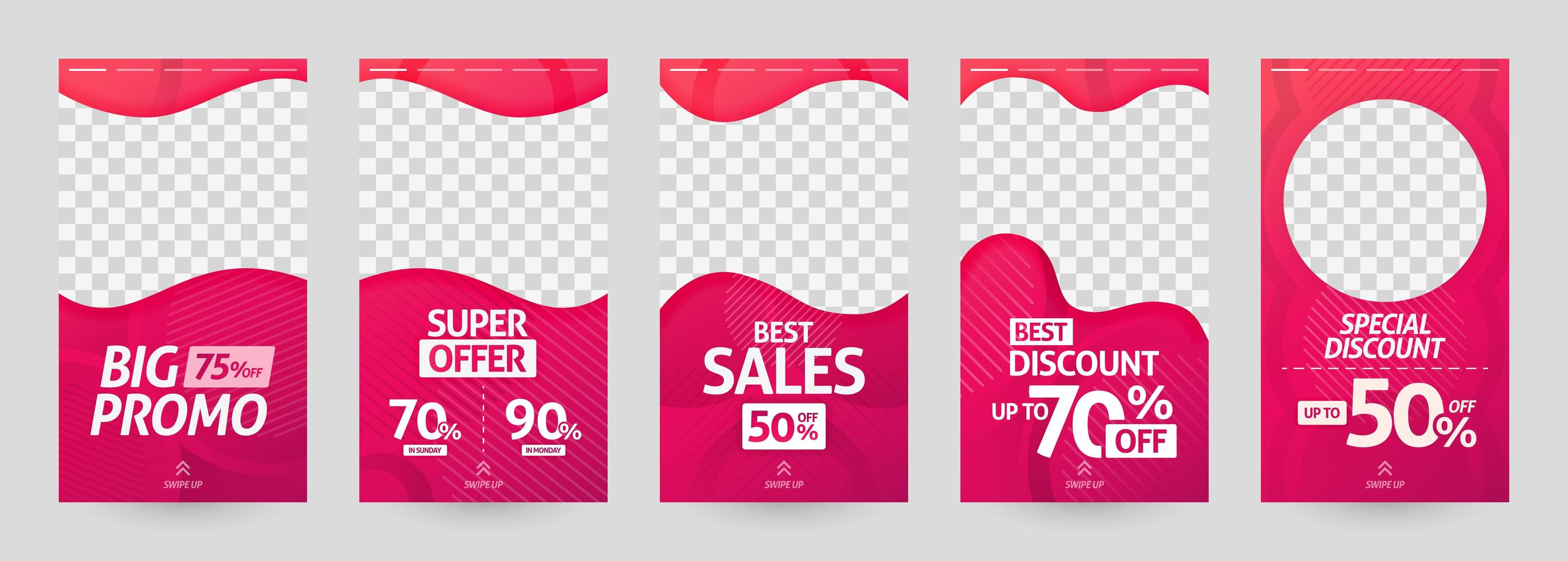abstract illustrations of social media story template. post discount and sale for fashion and modern retail. advertising, marketing, promotion for online. digital print brochure, flyer, banner, card vector