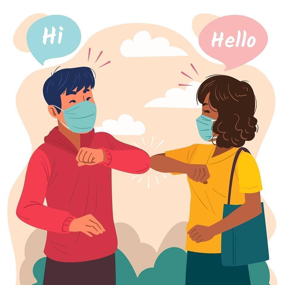 New Normal Handshake Concept vector