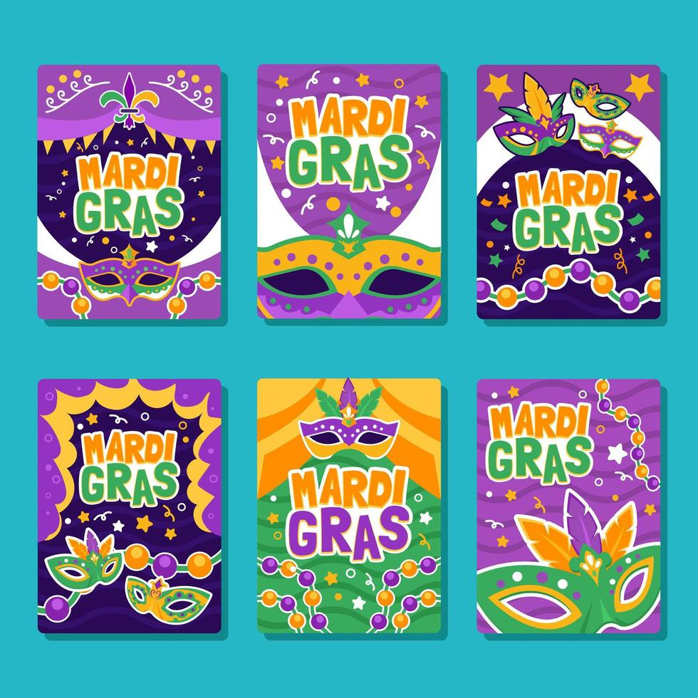 Mask of Party Mardi Gras Posters vector