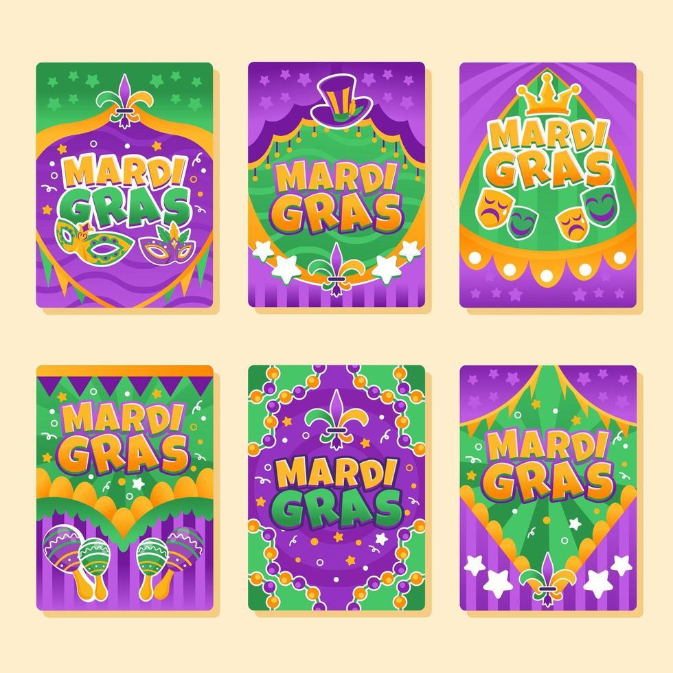 Festive Mardi Gras Party vector