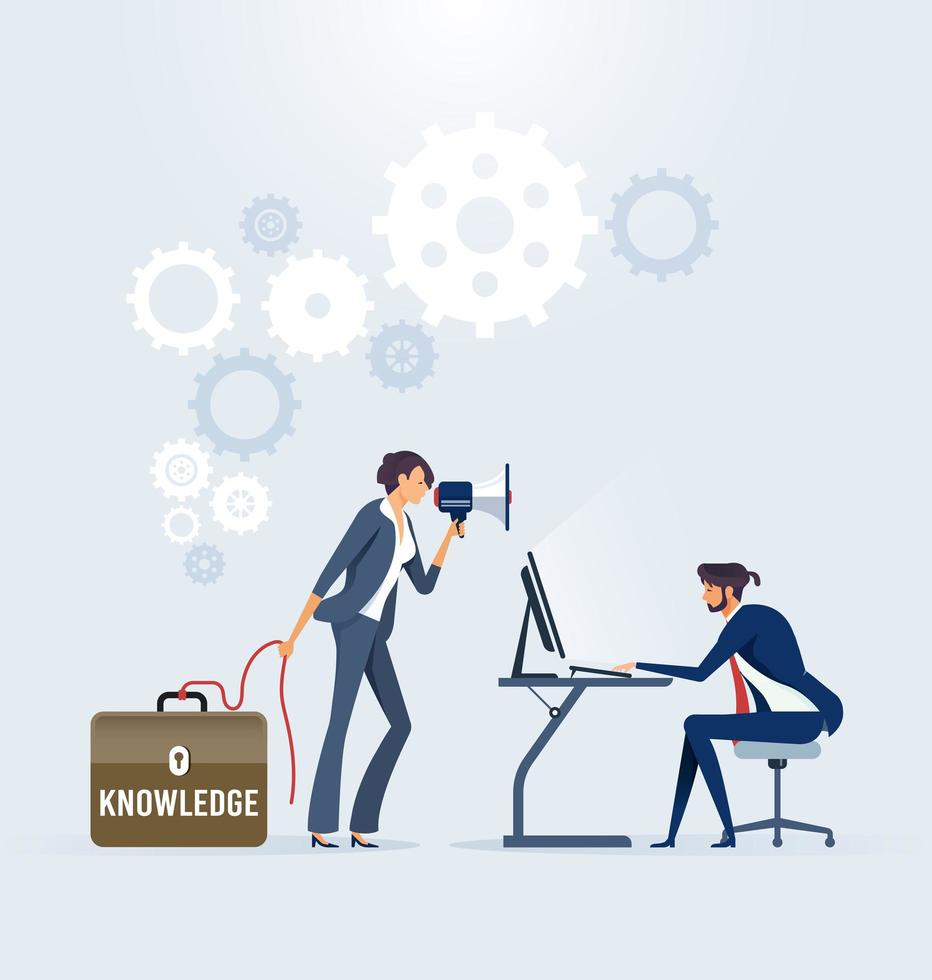 Business training and consulting service vector