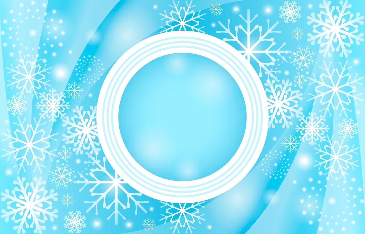 Elegant Gradient Light Blue Snowflakes Background vector
