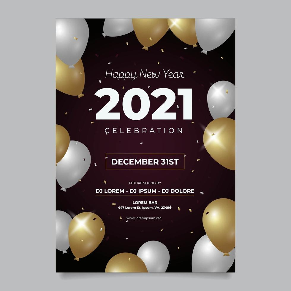 New Year Poster Template vector