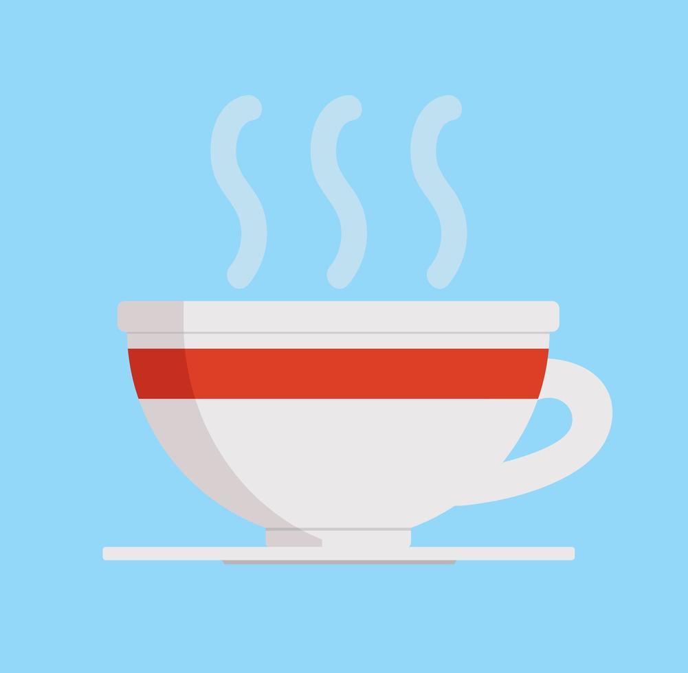 taza de café o té caliente vector