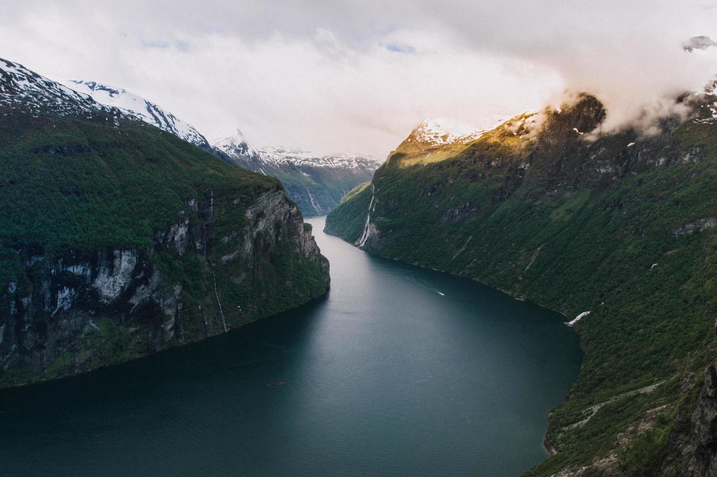 Norwegian fjord view photo