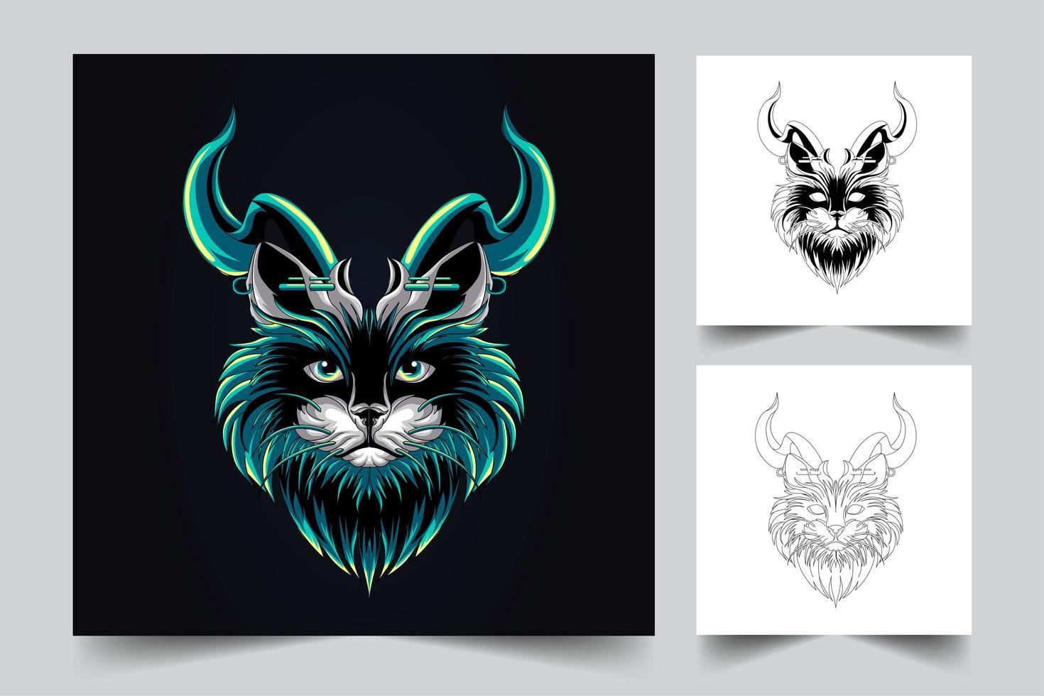 cute cat artwork illustration vector