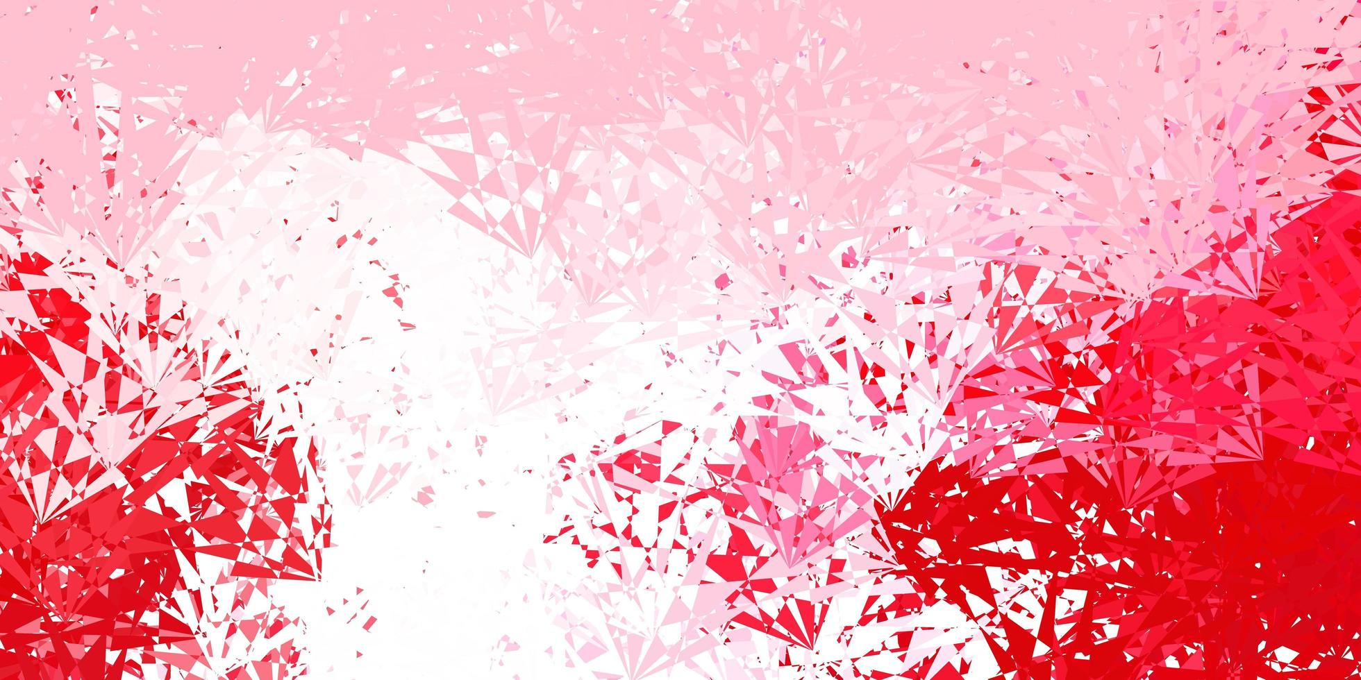 Light pink, red vector layout with triangle forms.